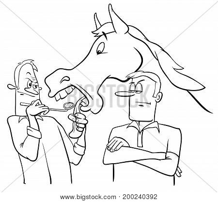 Looking A Gift Horse In The Mouth Cartoon