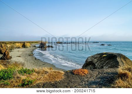 California has a great coastline with the rocks and cliffs plus the beautiful sandy beaches.