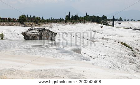 Hierapolis Antique Tomb In Pamukkale, Turkey