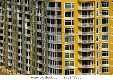 Highrise condos in Florida during the spring