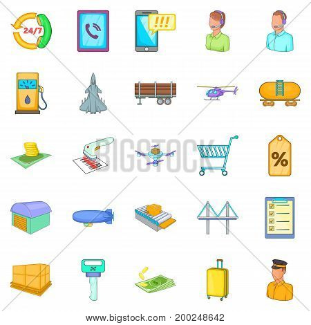 Delivery note icons set. Cartoon set of 25 delivery note vector icons for web isolated on white background