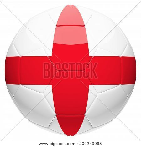 Soccer football with England flag 3d rendering