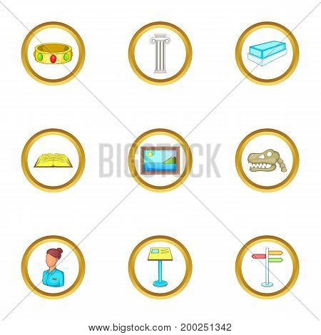 Excursion icons set. Cartoon illustration of 9 Excursion vector icons for web design