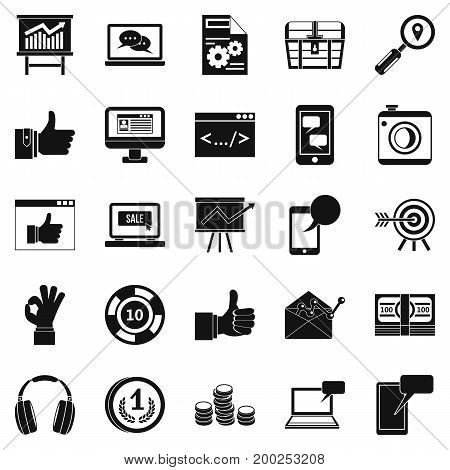 Strides icons set. Simple set of 25 strides vector icons for web isolated on white background