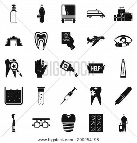 Doctor icons set. Simple set of 25 doctor vector icons for web isolated on white background