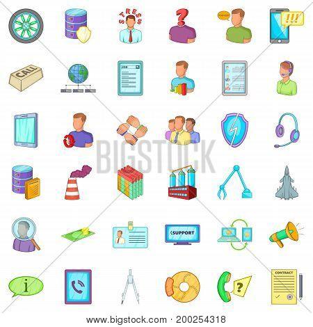 Bad economy icons set. Cartoon style of 36 bad economy vector icons for web isolated on white background
