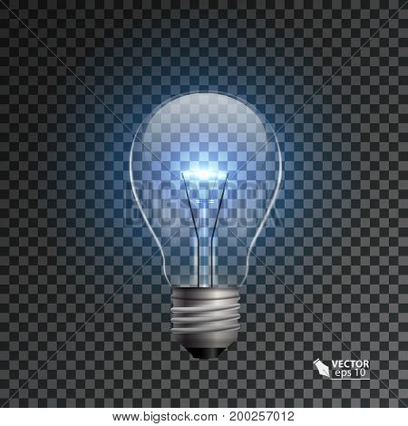 Realistic lamp on a transparent background, vector illustration