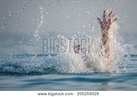 Person drowns in the sea