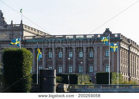 Sveriges Riksdag - Parliament House In Stockholm, Gamla Stan, Sweden