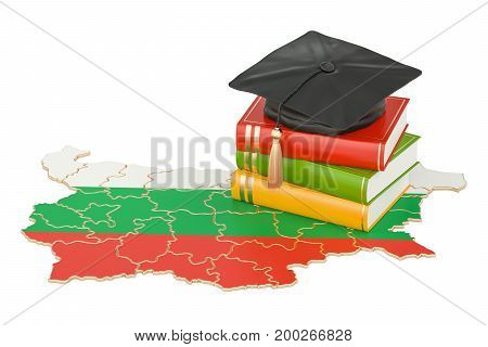 Education in Belgium concept 3D rendering isolated on white background