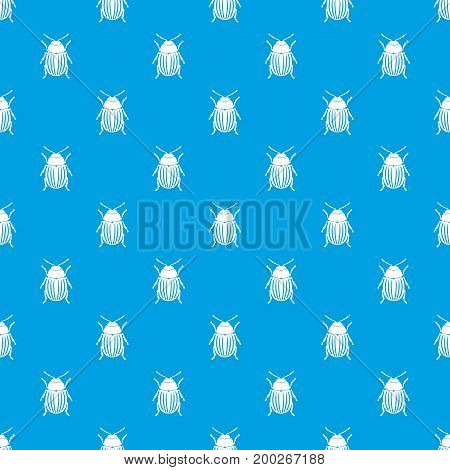 Colorado potato beetle pattern repeat seamless in blue color for any design. Vector geometric illustration