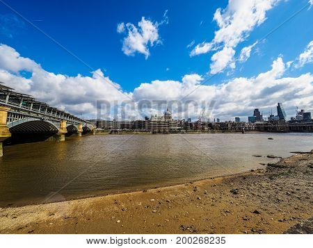 River Thames In London (hdr)