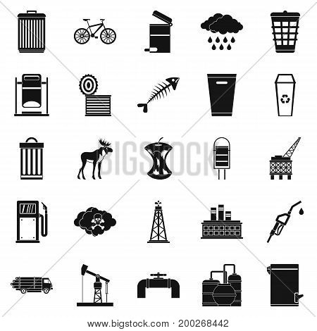 Preserve icons set. Simple set of 25 preserve vector icons for web isolated on white background