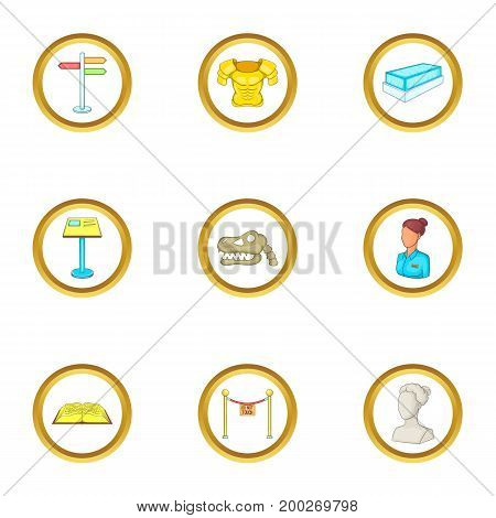 Sculpture icons set. Cartoon illustration of 9 sculpture vector icons for web design