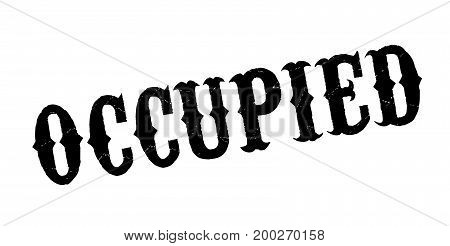 Occupied rubber stamp. Grunge design with dust scratches. Effects can be easily removed for a clean, crisp look. Color is easily changed.