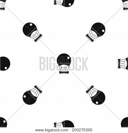 Aerostat balloon pattern repeat seamless in black color for any design. Vector geometric illustration