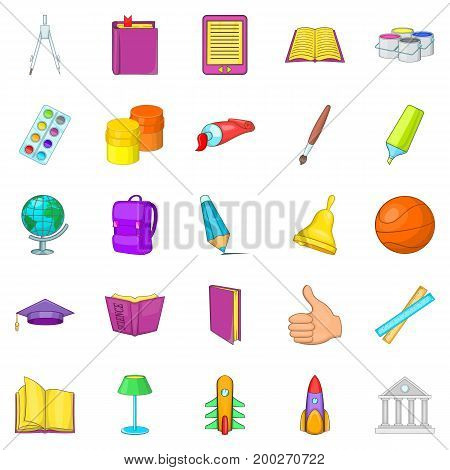 Info icons set. Cartoon set of 25 info vector icons for web isolated on white background
