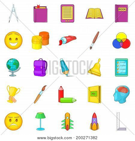 Excellent worker icons set. Cartoon set of 25 excellent worker vector icons for web isolated on white background