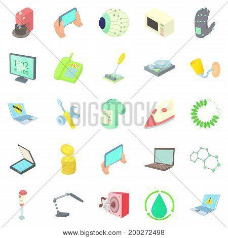 Autonomy icons set. Cartoon set of 25 autonomy vector icons for web isolated on white background