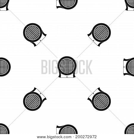 Electric heater pattern repeat seamless in black color for any design. Vector geometric illustration