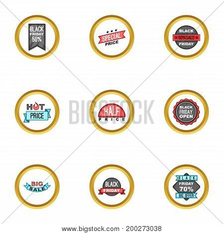 Sale icons set. Cartoon illustration of 9 sale vector icons for web design