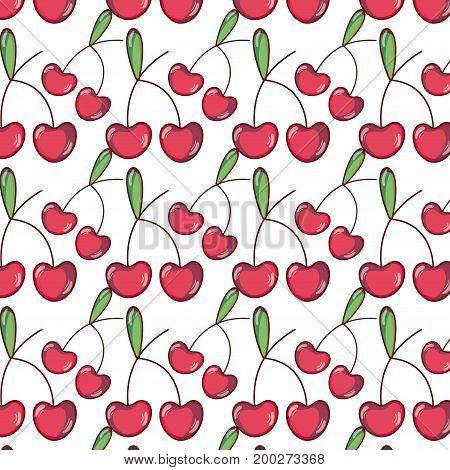 delicious cherries fruits background design vector illustration