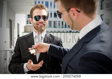Young Businessman Investor Buying New Apartment