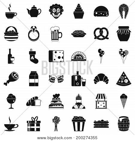 Great bounty icons set. Simple style of 36 great bounty vector icons for web isolated on white background