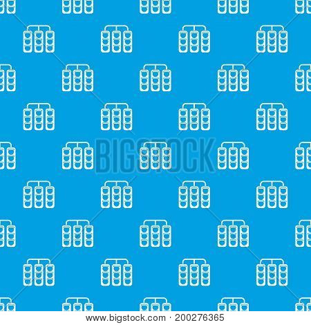 Traffic lights pattern repeat seamless in blue color for any design. Vector geometric illustration