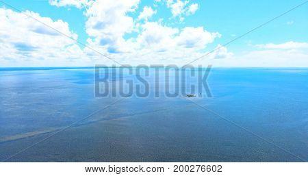 Beautiful Summer day sky on the Gulf Coast