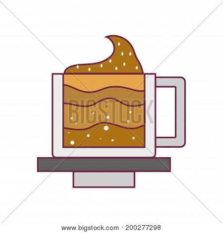 line tasty espresso coffe cup vector illustration icon