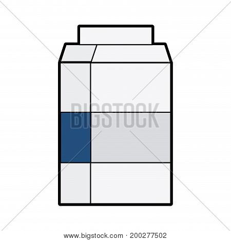 delicious milk box with nutrients ingredients vector illustration