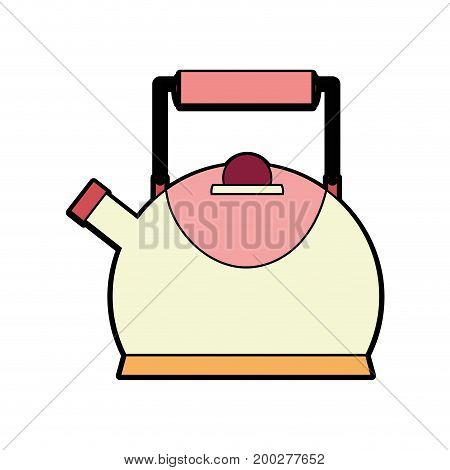 classical and elegant teapot kitchen utensil vector illustration