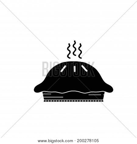 contour delicious and sweet fresh cake vector illustration