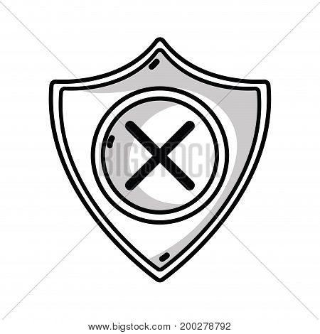 line security shield to technology protection icon vector illustration