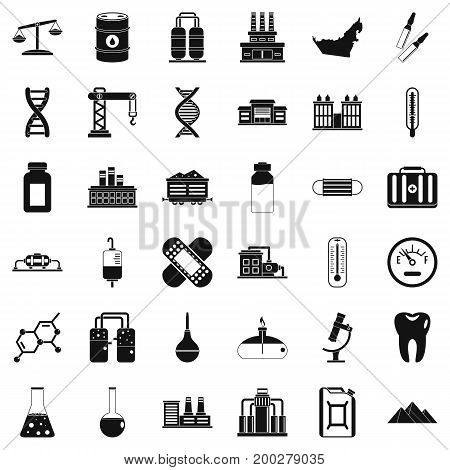 Chemical barrel icons set. Simple style of 36 chemical barrel vector icons for web isolated on white background