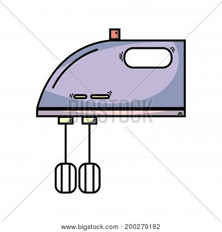 technology mixer electric kitchen utensil vector illustration