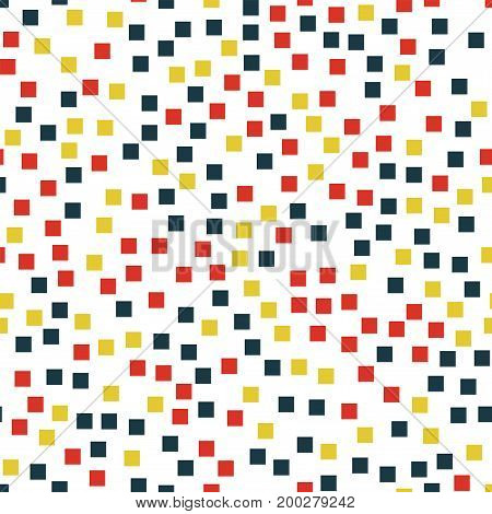 Abstract Squares Pattern. White Geometric Background. Fantastic Random Squares. Geometric Chaotic De