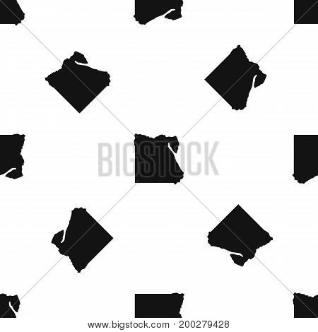 Map of Egypt pattern repeat seamless in black color for any design. Vector geometric illustration