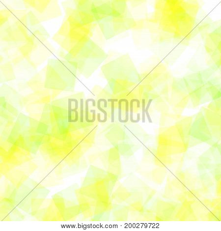Abstract Squares Pattern. White Geometric Background. Magnificent Random Squares. Geometric Chaotic