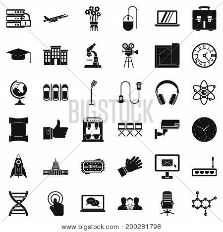 Good conference icons set. Simple style of 36 good conference vector icons for web isolated on white background