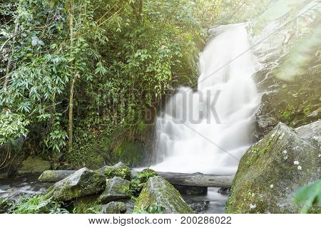 Siripoom waterfall at doi-inthanon , Chaingmai Thailand