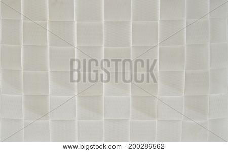 close up of white plastic basketry textures and background