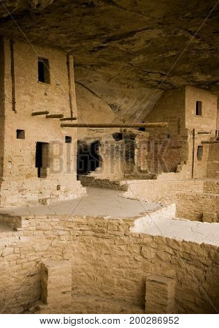 View in Balcony House in Mesa Verde, Colorado
