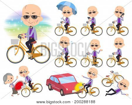 Japanese Mafia Yakuza Men_city Bicycle