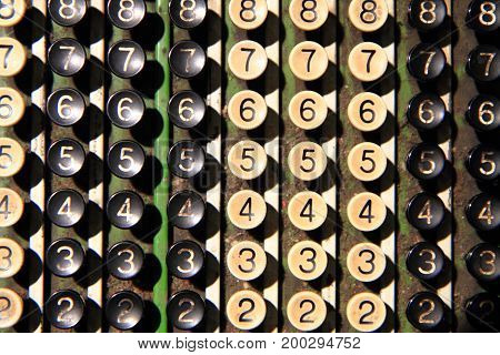 Old Calculator Keyboard