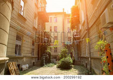 Cozy quiet courtyard in hte old city