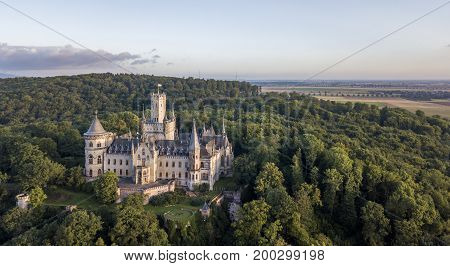A Gothic revival Marienburg castle in Lower Saxony, Germany