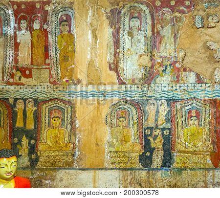Frescos In Yudaganawa Temple