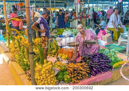 The Vegetable Stall In Wellawaya